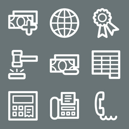 White finance web icons V2 set 2 Vector