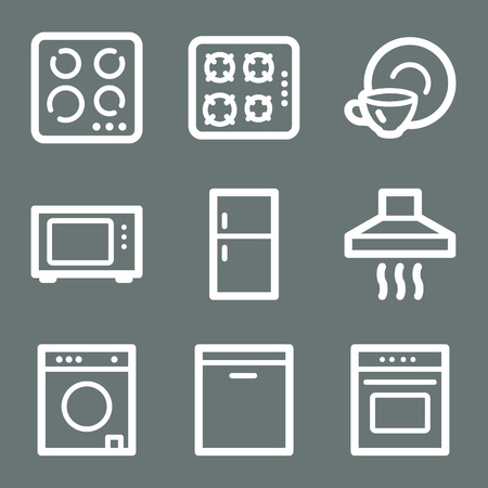 White home appliances web icons V2 Stock Vector - 3732219