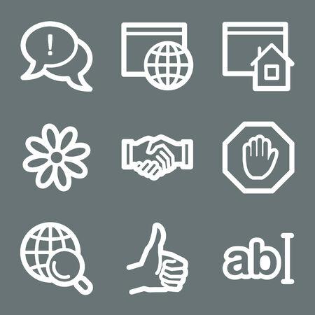 White internet communication web icons V2 Illustration