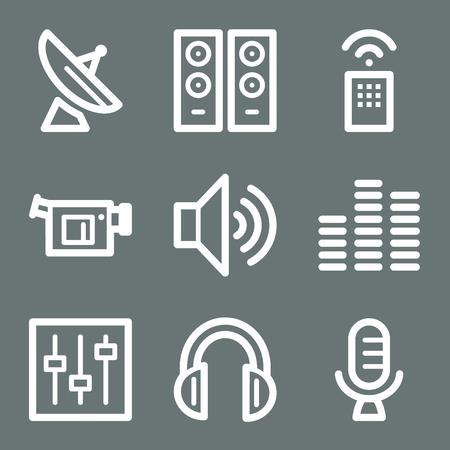 White media web icons V2 Vector