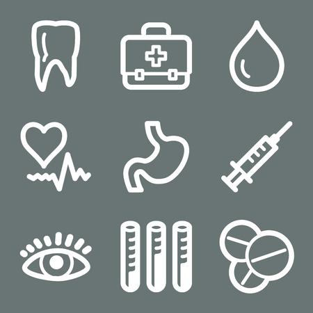 White medicine web icons V2 Vector