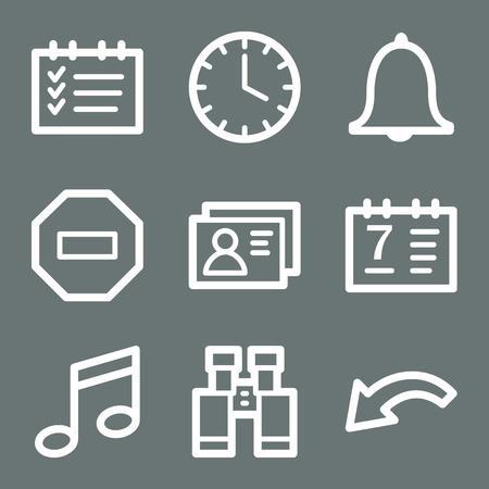 White organizer web icons V2 Stock Vector - 3732211