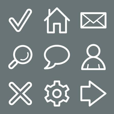 preferences: White basic web icons V2