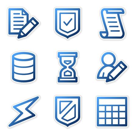 Database icons, blue contour series