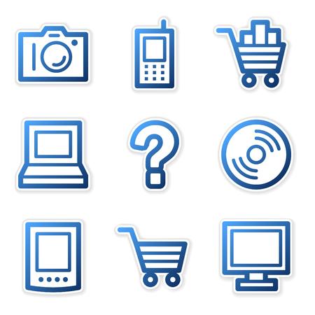 Electronics icons, blue contour series Stock Vector - 3754638