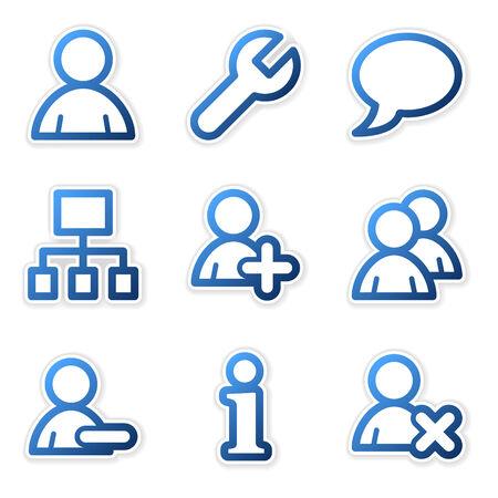 사용자: Users icons, blue contour series 일러스트