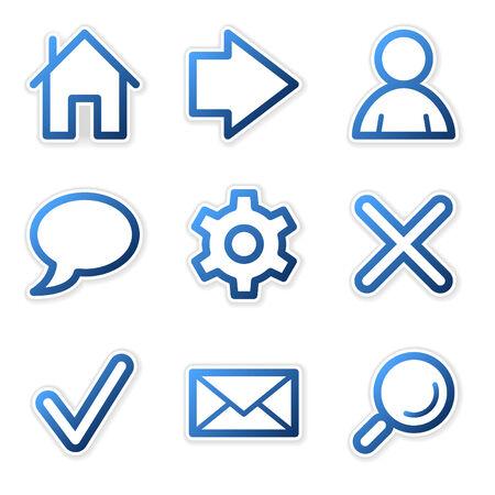 preferences: Web icons, blue contour series