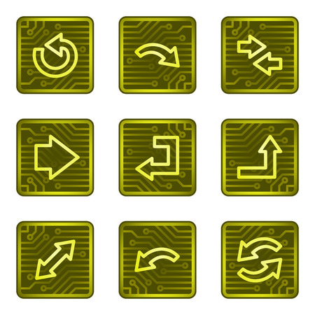 Arrows web icons, electronics card series Vector