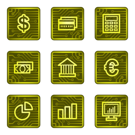 Finance web icons, electronics card series Vector