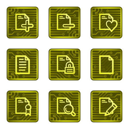Documents 2 web icons, electronics card series Vector