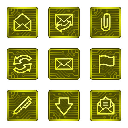 E-mail web icons, electronics card series Vector