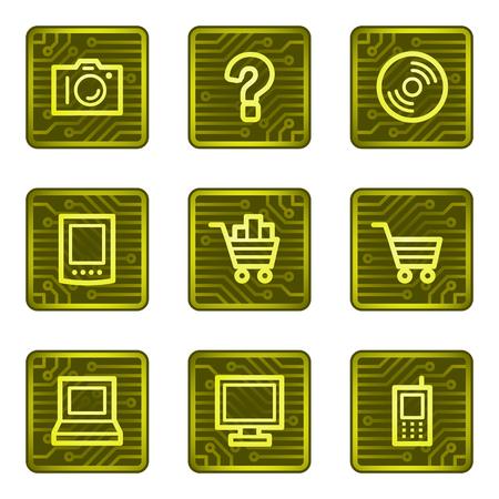 eshop: E-shop web icons, electronics card series Illustration
