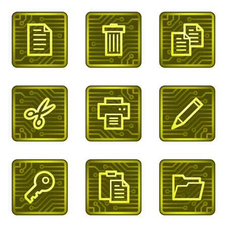 Document web icons, electronics card series Vector