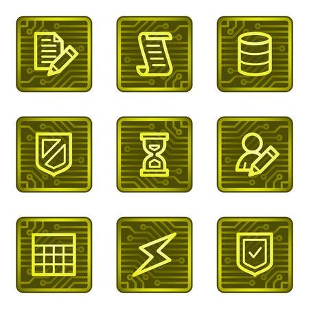 protecting: Database web icons, electronics card series Illustration