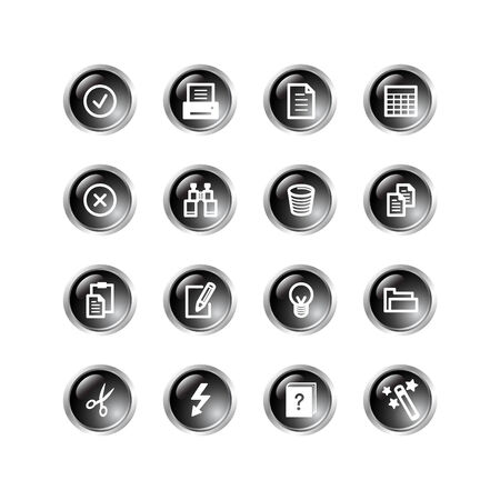 black drop document icons Vector