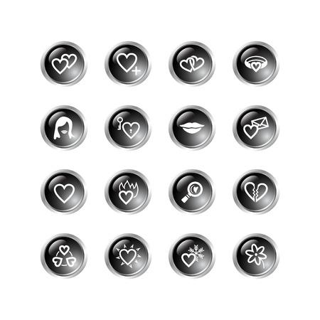 black drop love icons Stock Vector - 3792693