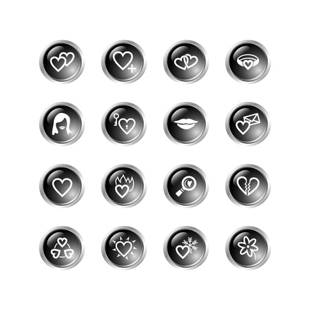 black drop love icons Stock Vector - 3792693