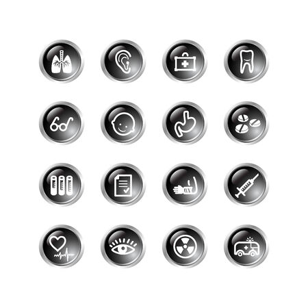 black drop medicine icons Vector