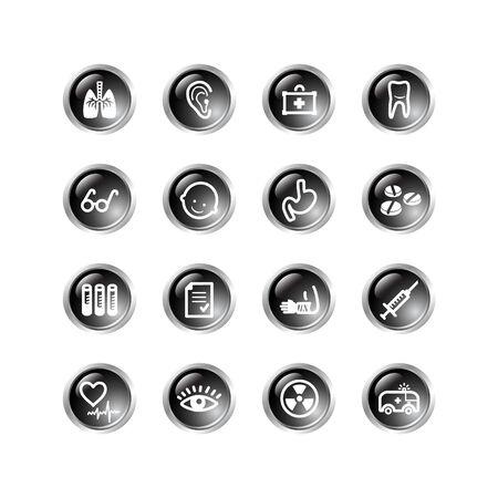 black drop medicine icons Vector
