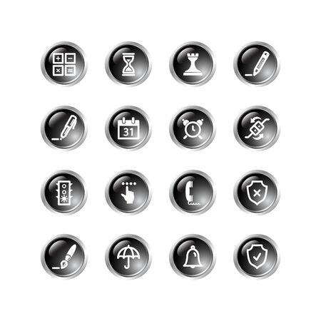 black drop software icons Vector