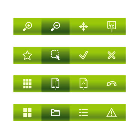 Green bar viewer icons Stock Vector - 3793196