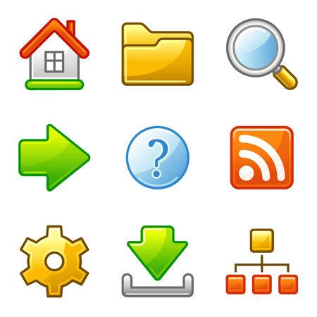 Basic web icons, alfa series Vector