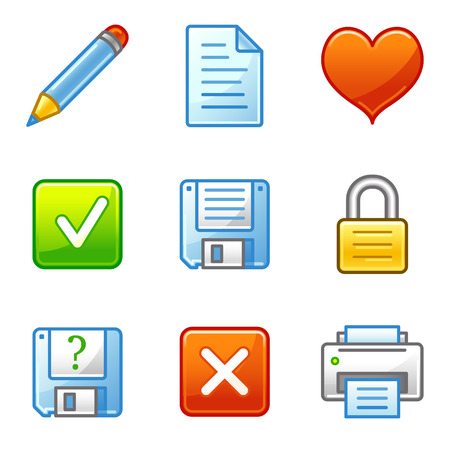 Document web icons, alfa series Vector
