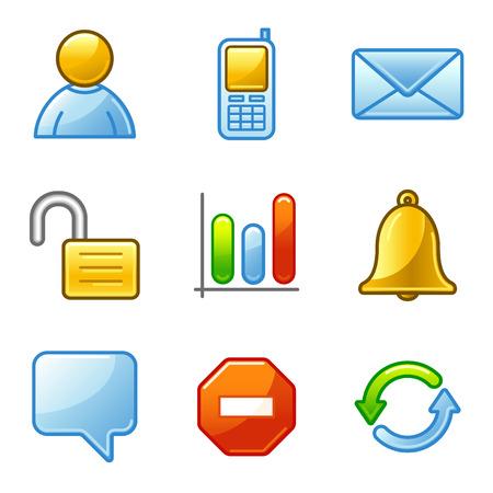 Community web icons, alfa series Vector