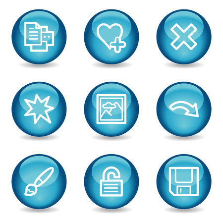 Image viewer web icons, blue glossy sphere series set 2 Stock Vector - 3865577