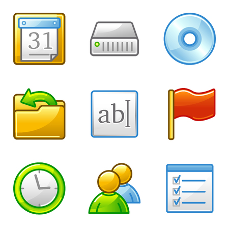 Administration web icons, alfa series Vector