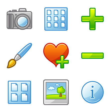 Image library web icons, alfa series Vector