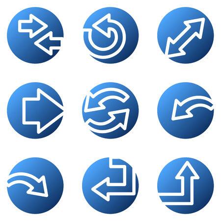 back link: Arrows web icons, blue circle series