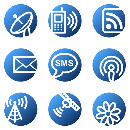 access point: Communication web icons, blue circle series