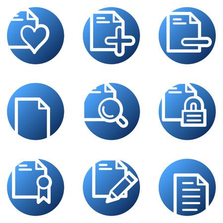 Document web icons, blue circle series set 2 Vector