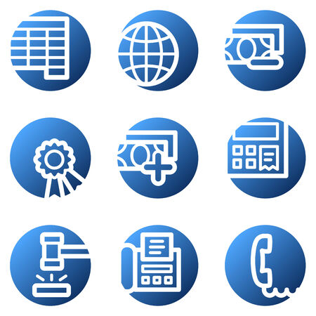 Finance web icons, blue circle series set 2 Stock Vector - 4222355