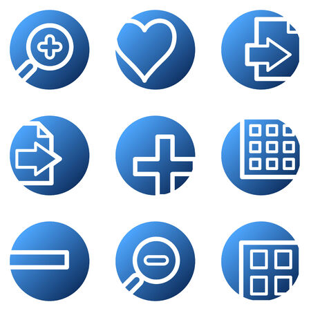 Image viewer web icons, blue circle series Stock Vector - 4222289