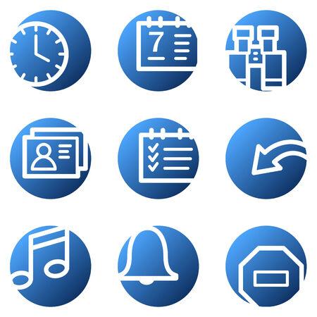 Organizer web icons, blue circle series Stock Vector - 4222297