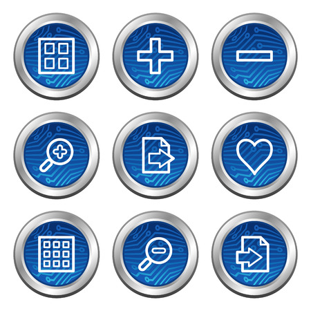 Image viewer web icons, blue electronics buttons series Stock Vector - 4222370