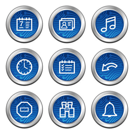 Organizer web icons, blue electronics buttons series Stock Vector - 4222377
