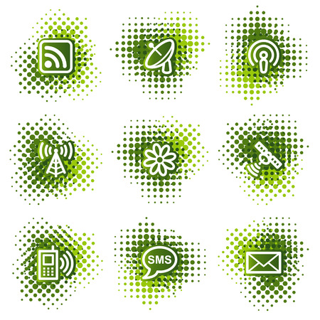 access point: Communication web icons, green dots series