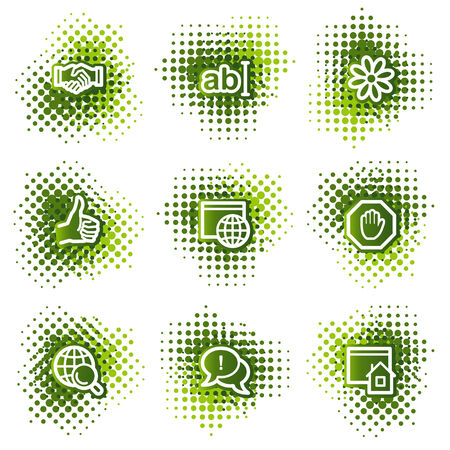 icq: Internet web icons, green dots series