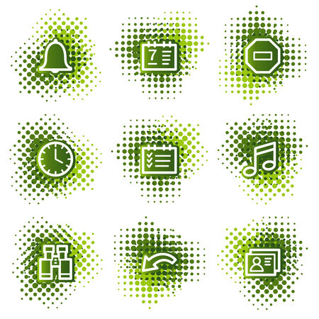 Organizer web icons, green dots series Stock Vector - 4345221