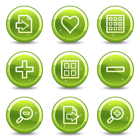 Image viewer web icons, green glossy circle buttons series Stock Vector - 4401573