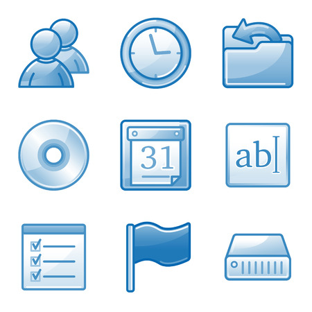 Administration web icons, blue alfa series Stock Vector - 4437134