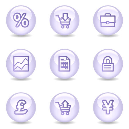 E-business web icons, glossy pearl series Vector