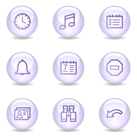 Organizer web icons, glossy pearl series Stock Vector - 4488966