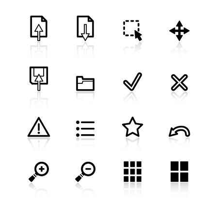 black viewer icons Stock Vector - 4492933