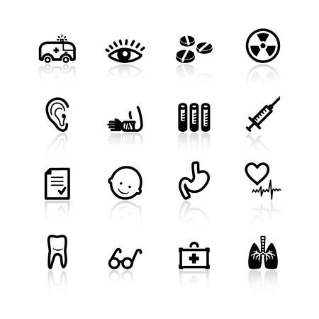 black medicine icons Stock Vector - 4492940