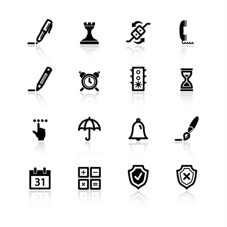 black software icons Vector
