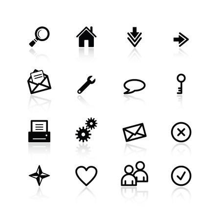 noir base Web icônes